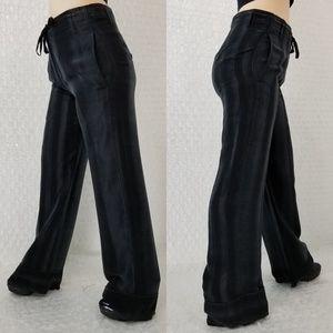 Ann Demeulemeester Pants - Ann Demeulemeester classic striped satin trousers